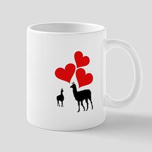 Hearts & Llamas Mugs