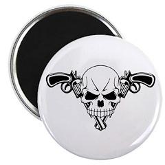 """Skull and Guns 2.25"""" Magnet (100 pack)"""