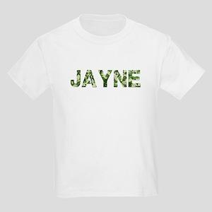 Jayne, Vintage Camo, Kids Light T-Shirt