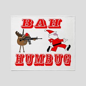 Bah Humbug gunfight tr copy Throw Blanket
