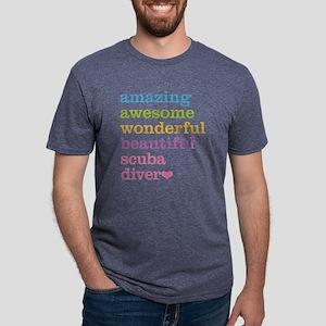 Scuba Diver Mens Tri-blend T-Shirt