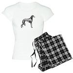 Saluki Silhouette Women's Pajamas