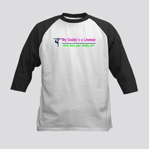 custom what does your daddy do Baseball Jersey