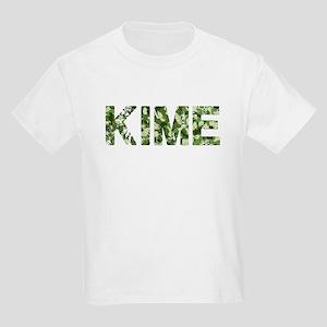 Kime, Vintage Camo, Kids Light T-Shirt