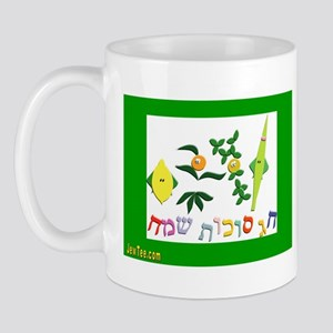 HAPPY SUKKOT HEBREW Mug