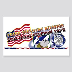 Iraqi Freedom Tour Rectangle Sticker