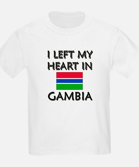 I Left My Heart In Gambia Kids T-Shirt
