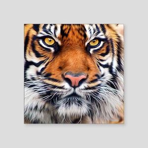 """Male Siberian Tiger Square Sticker 3"""" x 3"""""""