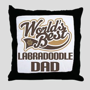 Labradoodle Dog Dad Throw Pillow