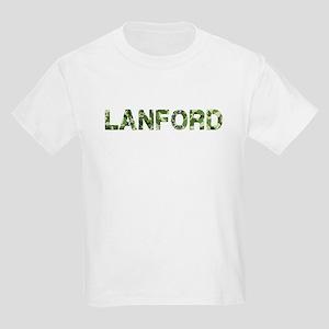 Lanford, Vintage Camo, Kids Light T-Shirt