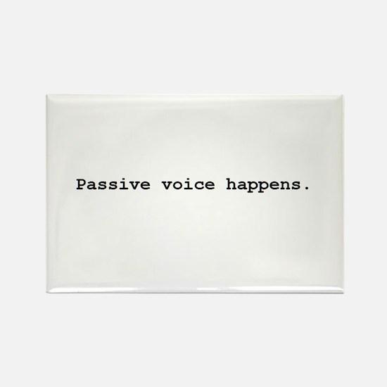 Passive Voice Rectangle Magnet