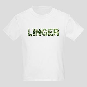 Linger, Vintage Camo, Kids Light T-Shirt