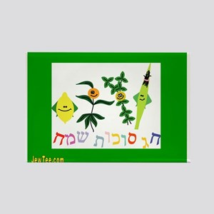 Sukkot Happy Succah Time Rectangle Magnet