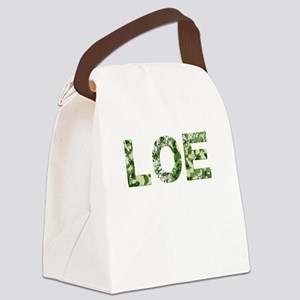 Loe, Vintage Camo, Canvas Lunch Bag