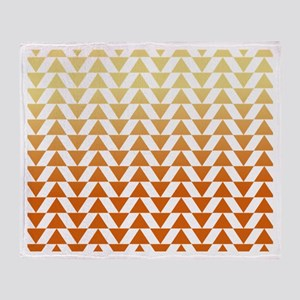 Triangles - Creamsicle Throw Blanket