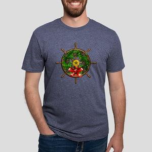 Nautical Ships Wheel Wreath Mens Tri-blend T-Shirt