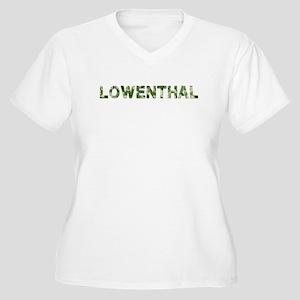 Lowenthal, Vintage Camo, Women's Plus Size V-Neck