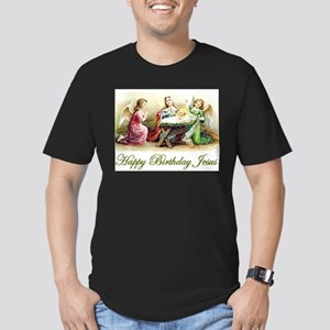 Happy Birthday Jesus Men's Fitted T-Shirt (dark)