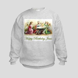 Happy Birthday Jesus Kids Sweatshirt