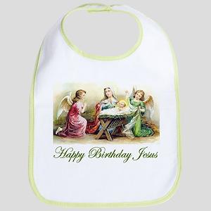 Happy Birthday Jesus Bib
