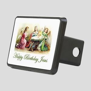 Happy Birthday Jesus Rectangular Hitch Cover