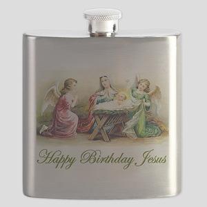Happy Birthday Jesus Flask