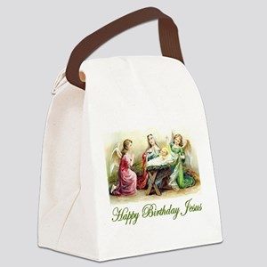 Happy Birthday Jesus Canvas Lunch Bag