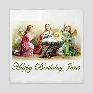 Happy Birthday Jesus Queen Duvet