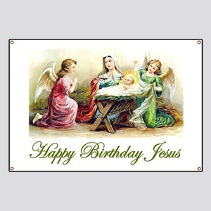 Happy Birthday Jesus Banner