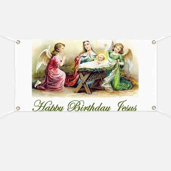 Happy Birthday Jesus Banner