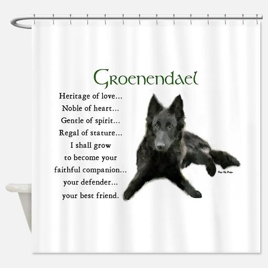 Groenendael Puppy Shower Curtain