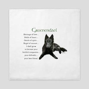 Groenendael Puppy Queen Duvet