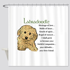 Labradoodle Puppy Shower Curtain