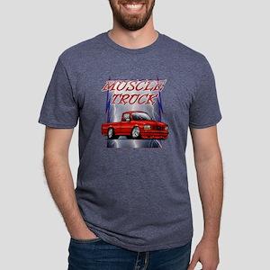Red G1 Lightning Mens Tri-blend T-Shirt