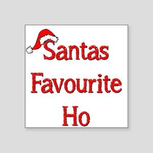 """Santas Favourite Ho Square Sticker 3"""" x 3"""""""