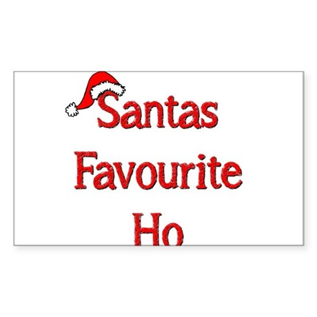 Santas Favourite Ho Sticker (Rectangle)