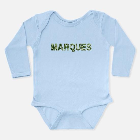 Marques, Vintage Camo, Long Sleeve Infant Bodysuit