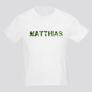 Matthias, Vintage Camo, Kids Light T-Shirt