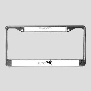 Team Sozo License Plate Frame