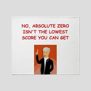 absolute zero Throw Blanket