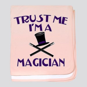 Trust Me I'm a Magician baby blanket