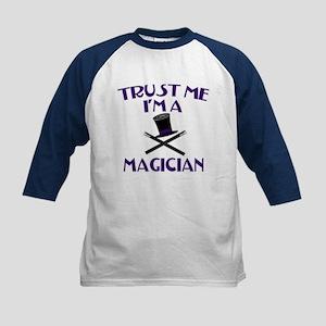 Trust Me I'm a Magician Kids Baseball Jersey