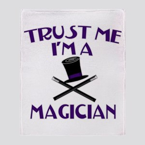 Trust Me I'm a Magician Throw Blanket