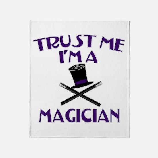 Trust Me I'm a Magician Throw Blanket