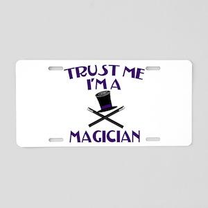 Trust Me I'm a Magician Aluminum License Plate