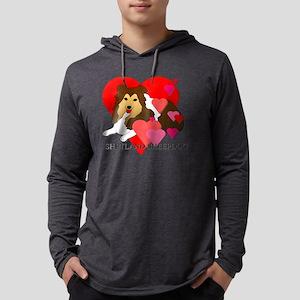 Shetland Sheepdog Mens Hooded Shirt