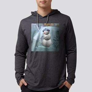 golfing snowman square Mens Hooded Shirt