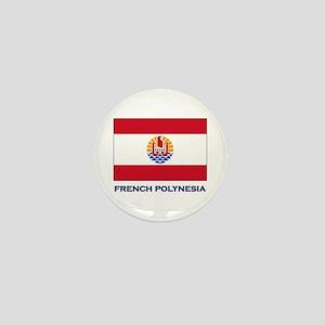 French Polynesia Flag Stuff Mini Button