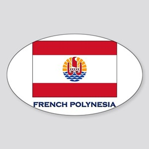 French Polynesia Flag Stuff Oval Sticker