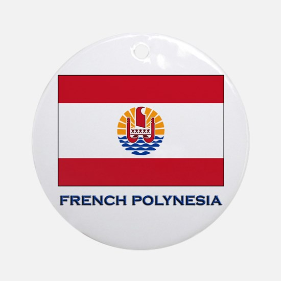 French Polynesia Flag Stuff Ornament (Round)